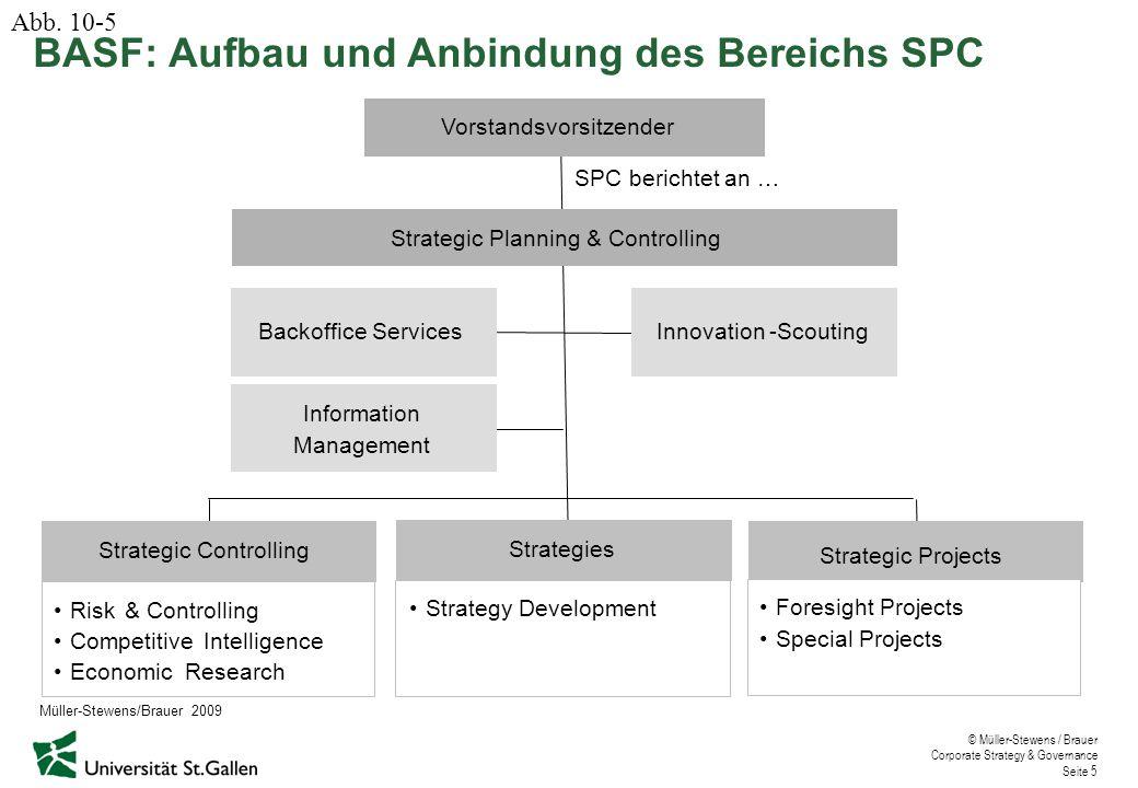 BASF: Aufbau und Anbindung des Bereichs SPC