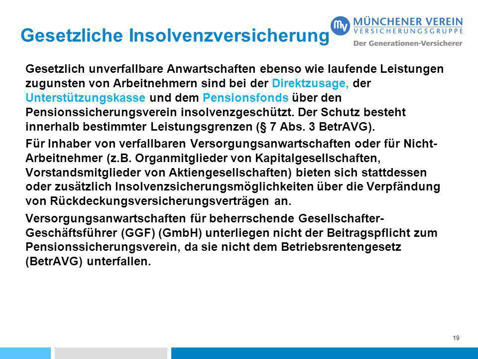 Gesetzliche Insolvenzversicherung