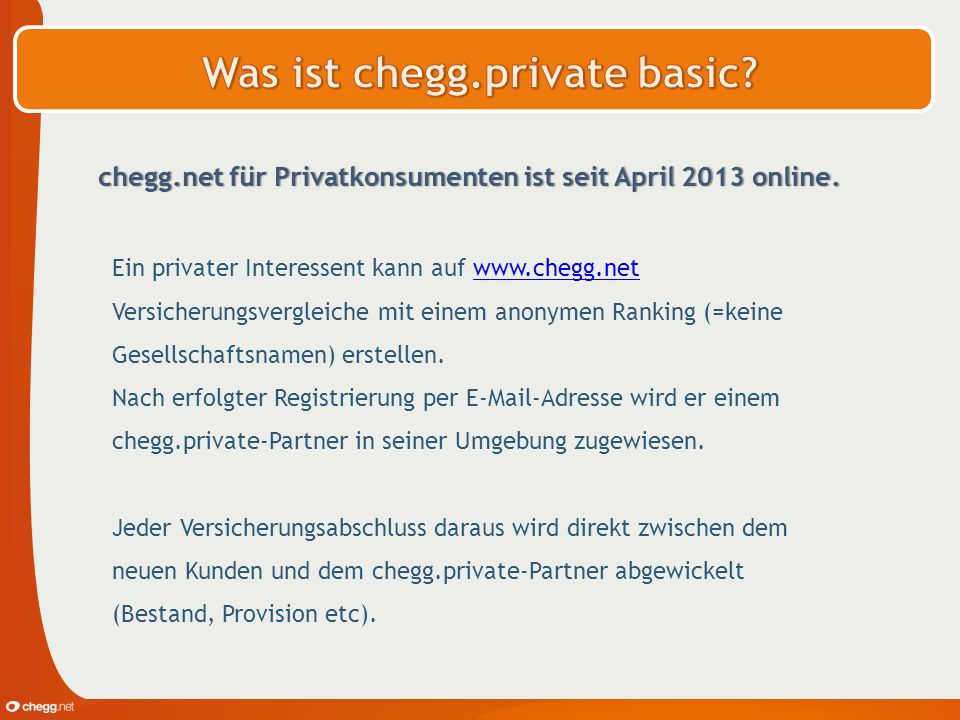 Was ist chegg.private basic