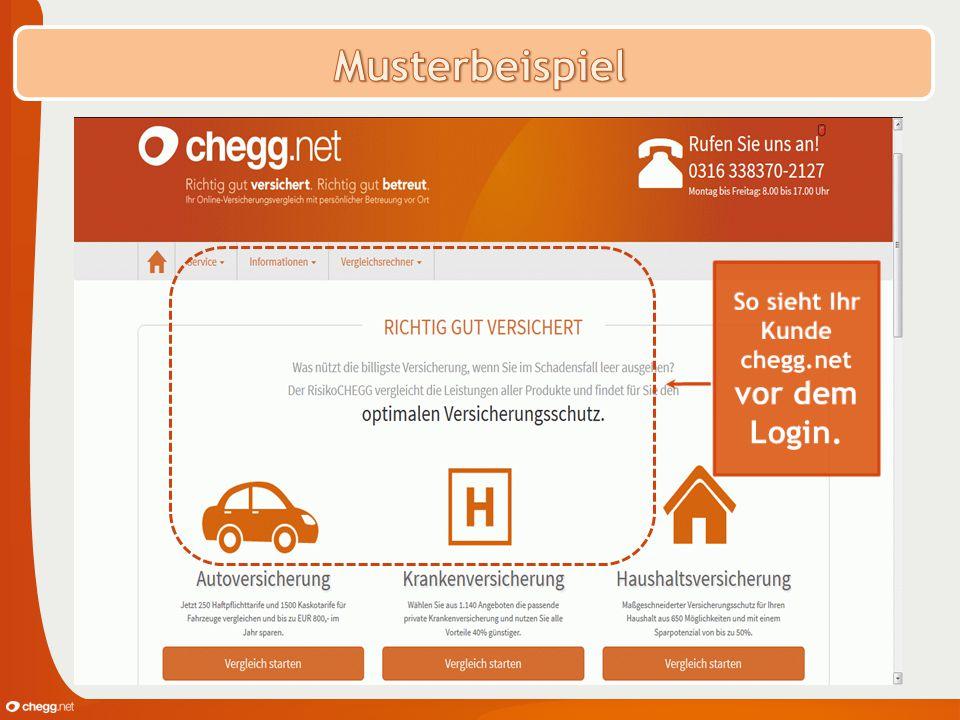 So sieht Ihr Kunde chegg.net vor dem Login.
