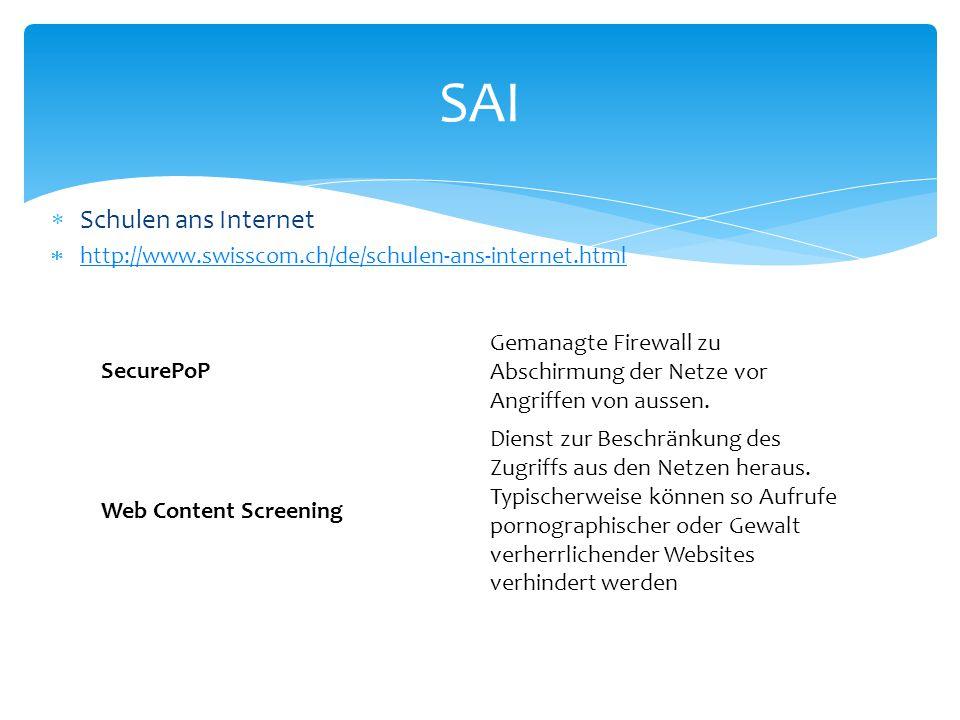 SAI Schulen ans Internet