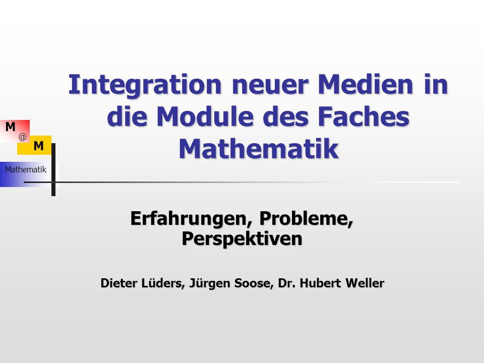 Integration neuer Medien in die Module des Faches Mathematik