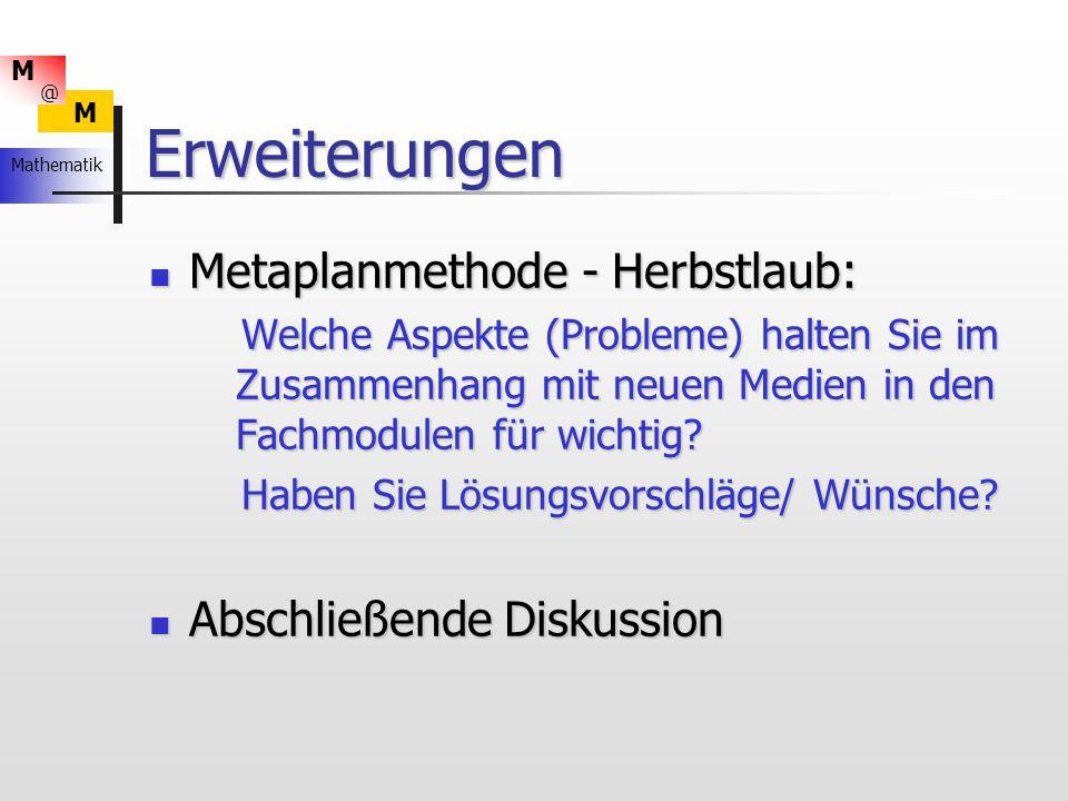 Erweiterungen Metaplanmethode - Herbstlaub: Abschließende Diskussion