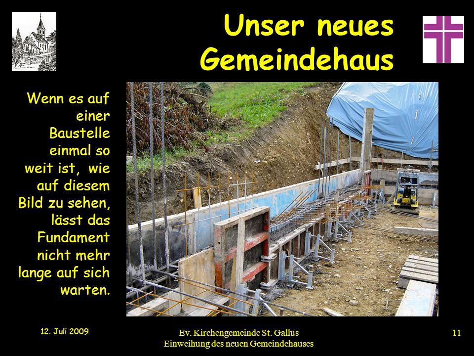 Wenn es auf einer Baustelle einmal so weit ist, wie auf diesem Bild zu sehen, lässt das Fundament nicht mehr lange auf sich warten.