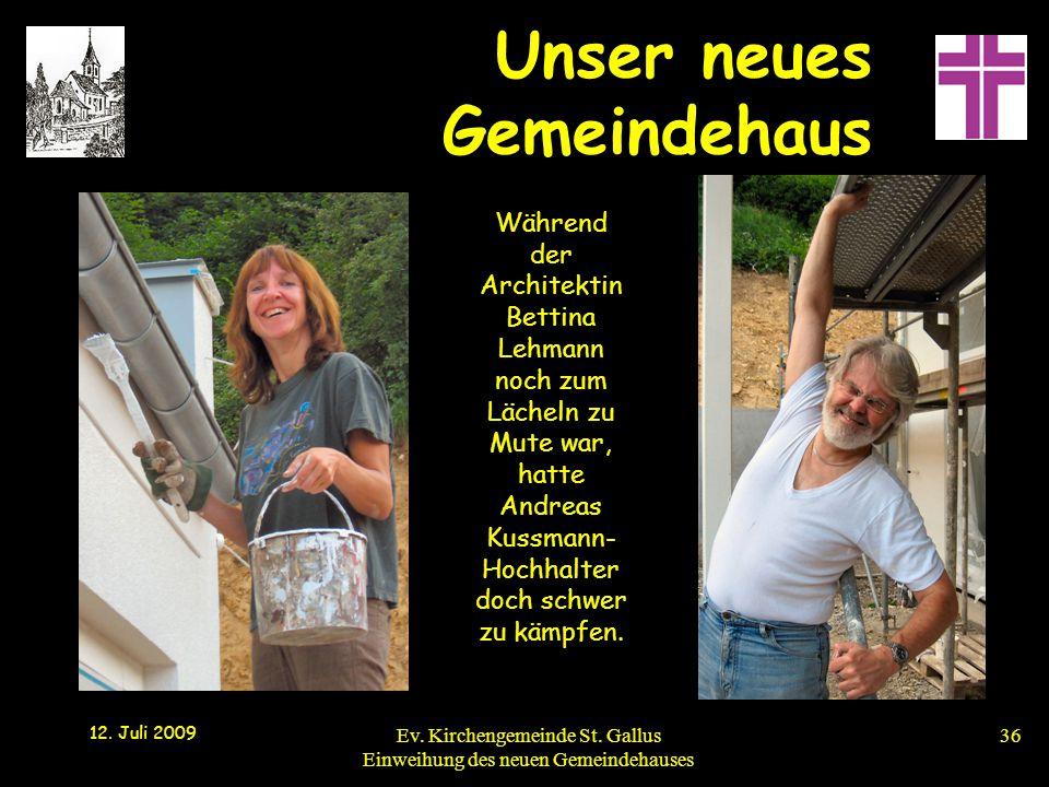 Während der Architektin Bettina Lehmann noch zum Lächeln zu Mute war, hatte Andreas Kussmann-Hochhalter doch schwer zu kämpfen.