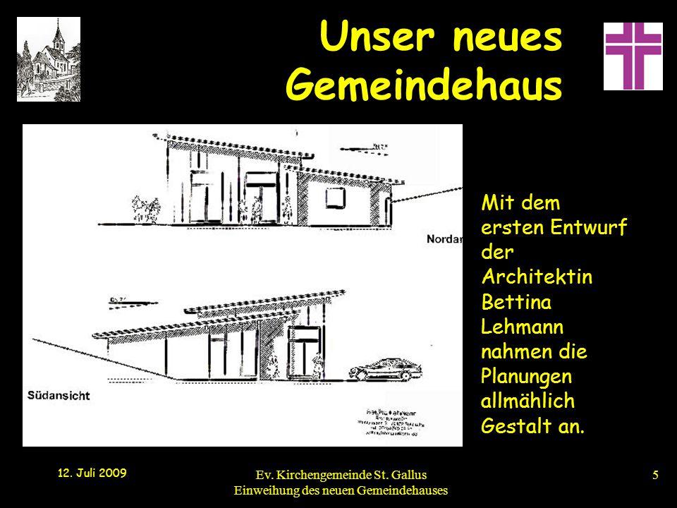 Mit dem ersten Entwurf der Architektin Bettina Lehmann nahmen die Planungen allmählich Gestalt an.