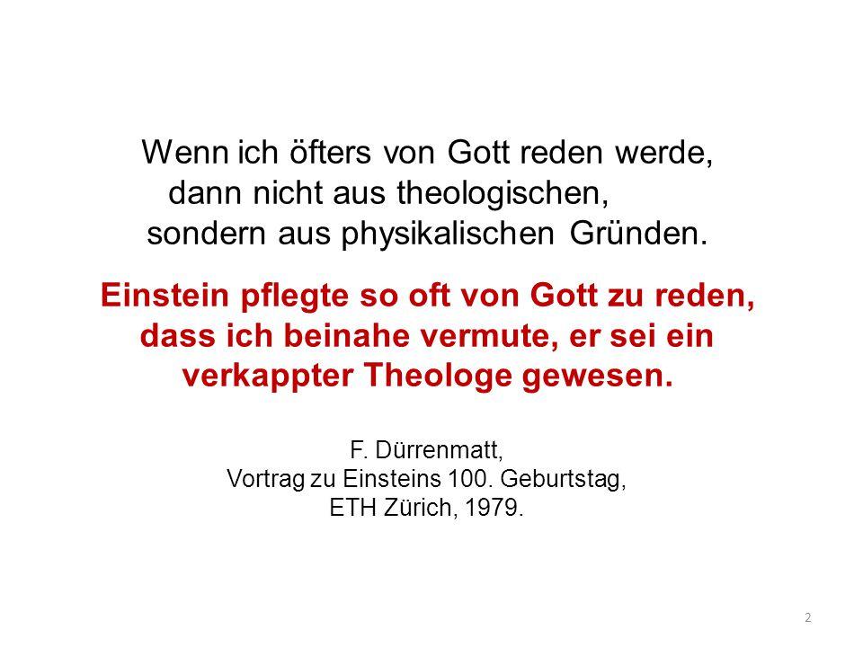 Vortrag zu Einsteins 100. Geburtstag, ETH Zürich, 1979.