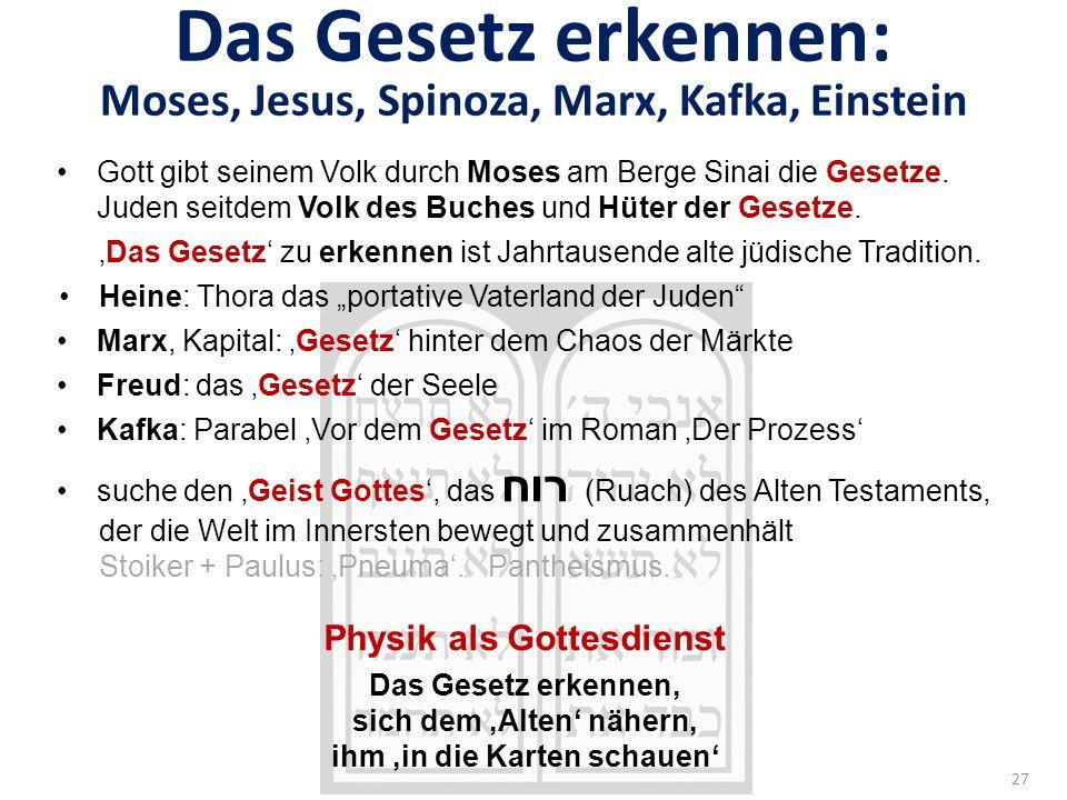 Das Gesetz erkennen: Moses, Jesus, Spinoza, Marx, Kafka, Einstein