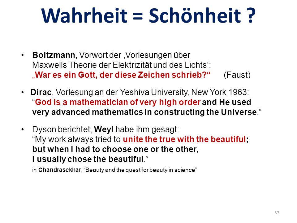Wahrheit = Schönheit Boltzmann, Vorwort der 'Vorlesungen über