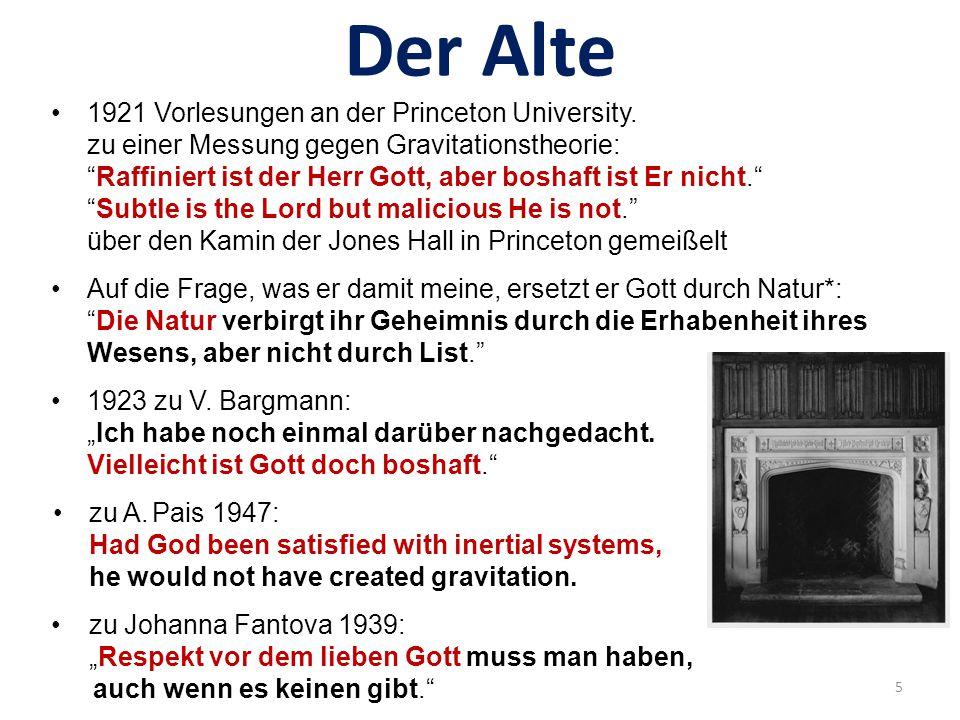 Der Alte dt.-engl. * Gott = Natur: Pantheismus!