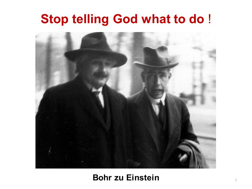 Stop telling God what to do !