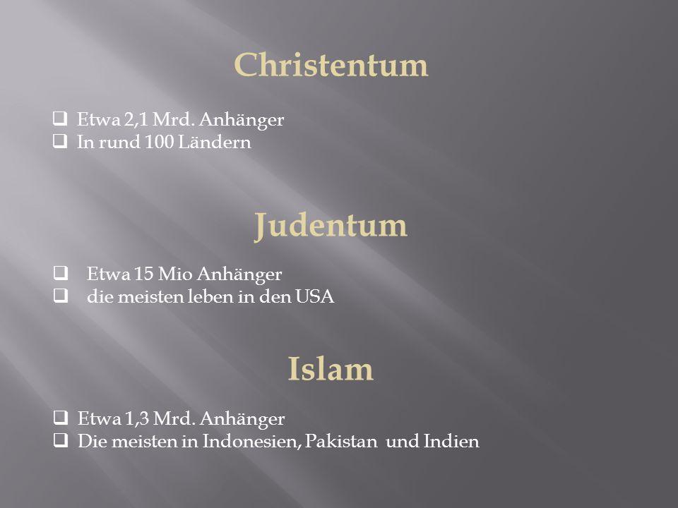 Christentum Judentum Islam