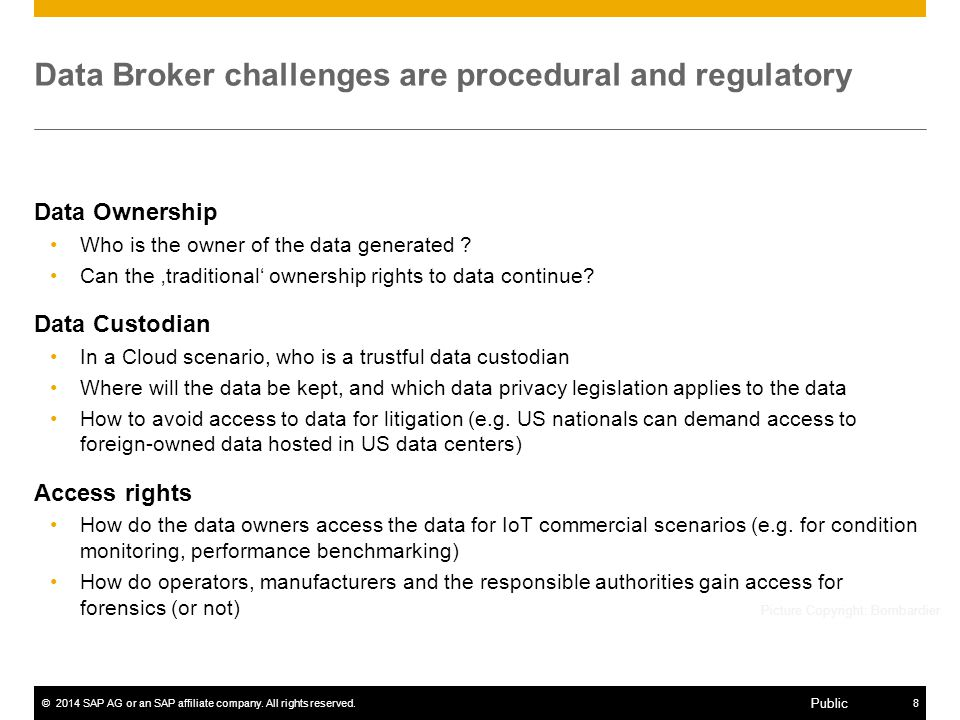 Data Broker challenges are procedural and regulatory