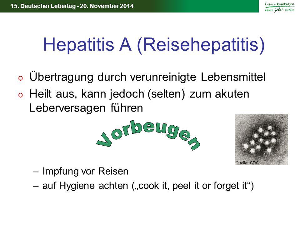 Hepatitis A (Reisehepatitis)