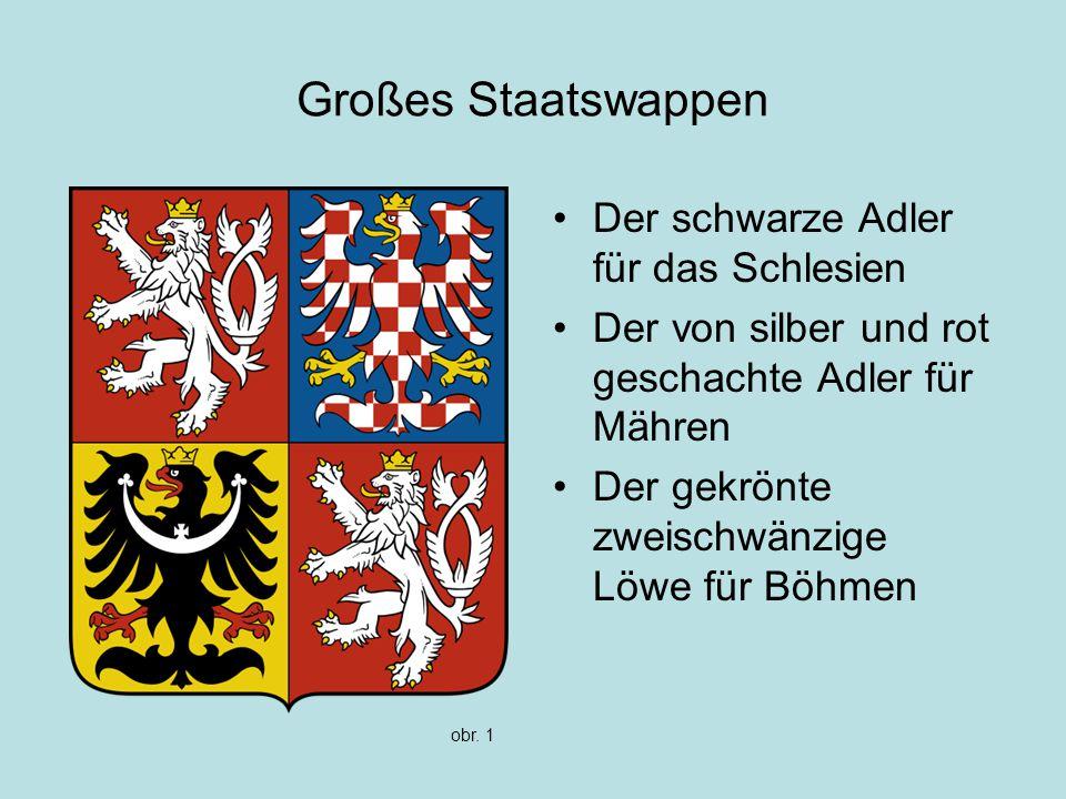 Großes Staatswappen Der schwarze Adler für das Schlesien