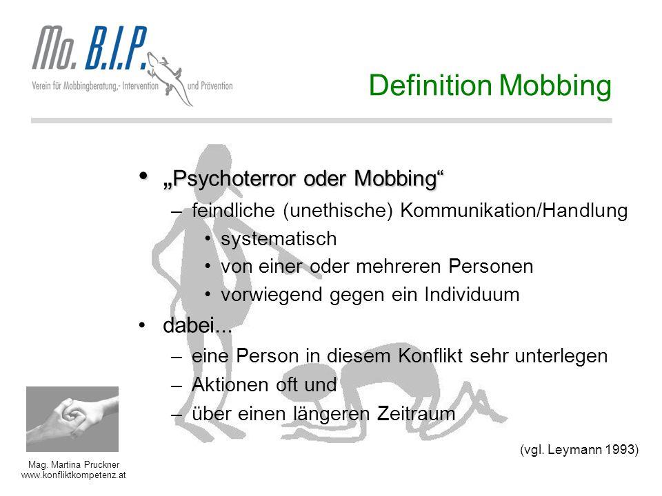 """""""Psychoterror oder Mobbing"""