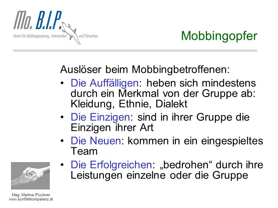 Mobbingopfer Auslöser beim Mobbingbetroffenen: