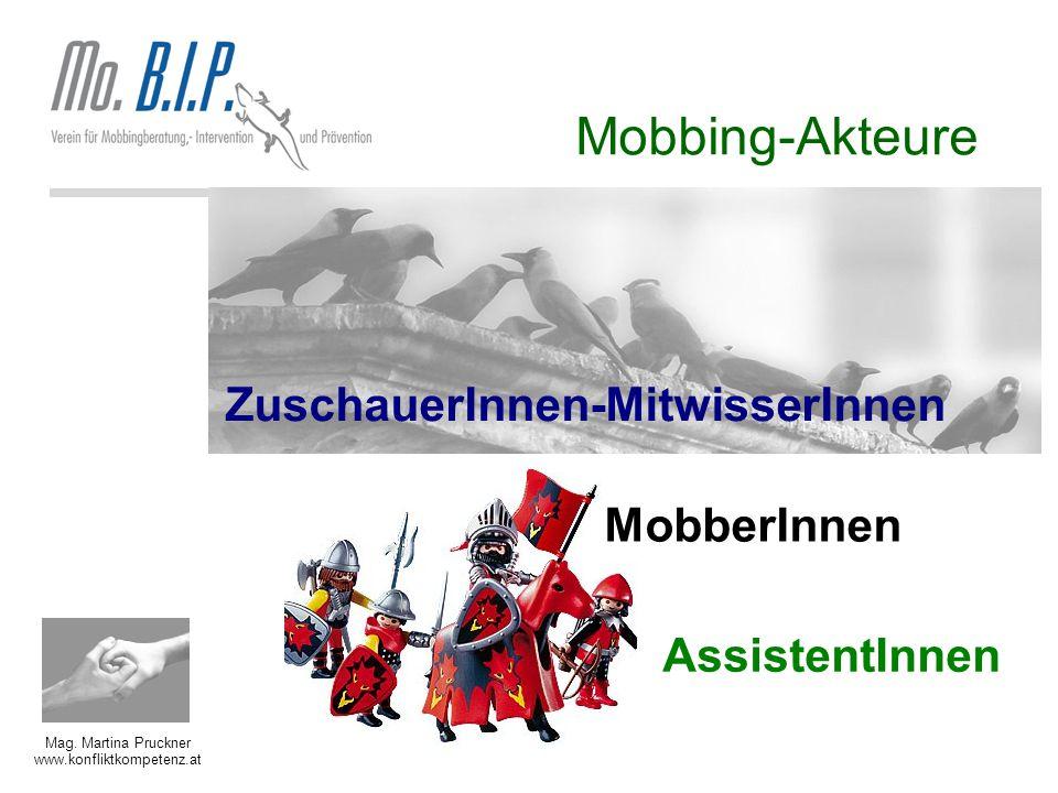 Mobbing-Akteure ZuschauerInnen-MitwisserInnen MobberInnen