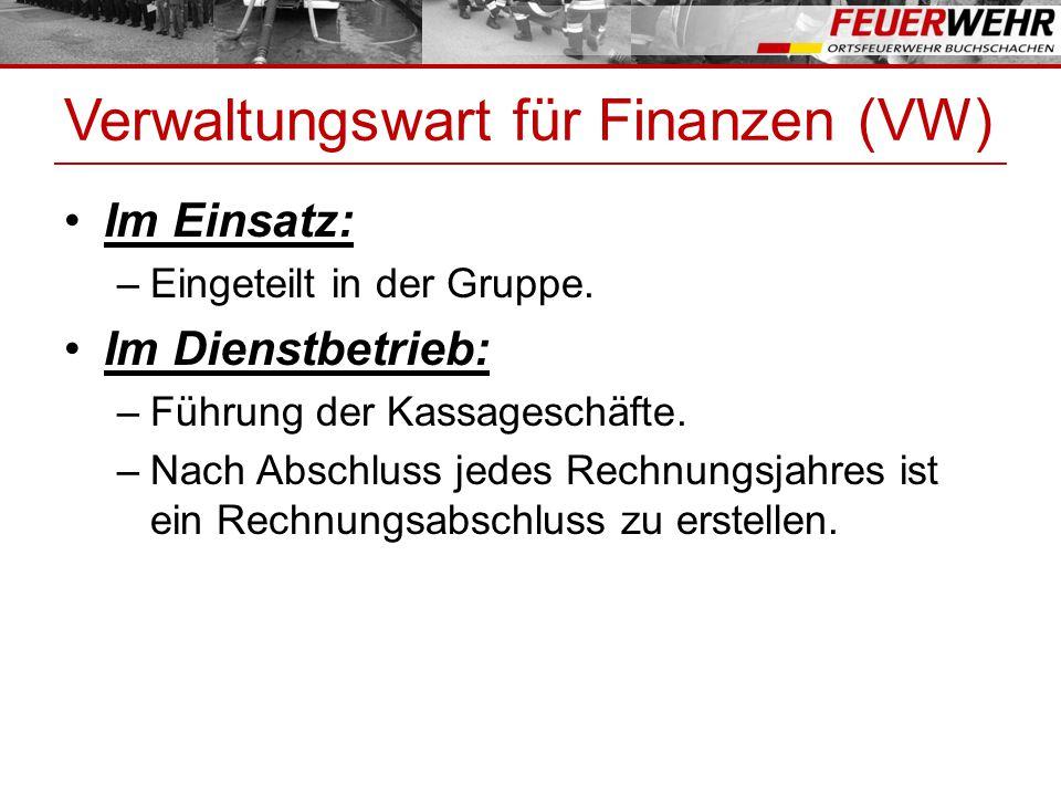 Verwaltungswart für Finanzen (VW)
