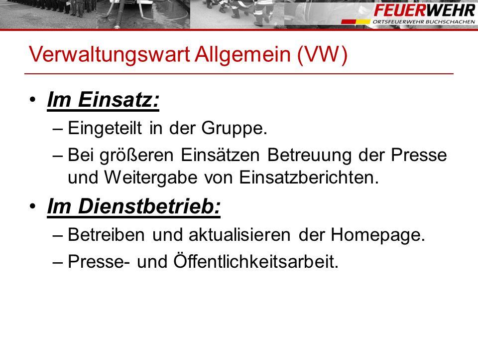 Verwaltungswart Allgemein (VW)