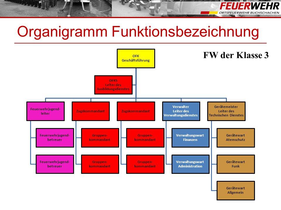 Organigramm Funktionsbezeichnung