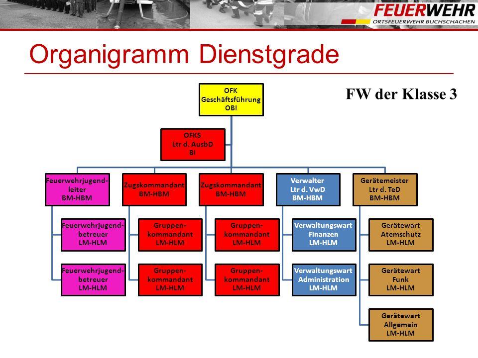 Organigramm Dienstgrade