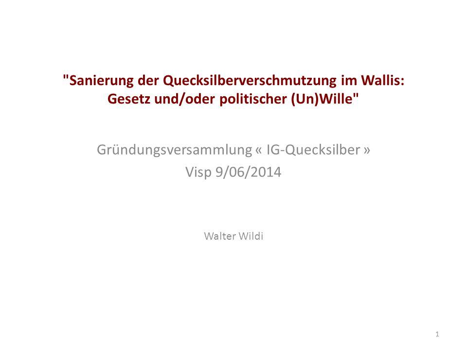 Gründungsversammlung « IG-Quecksilber » Visp 9/06/2014