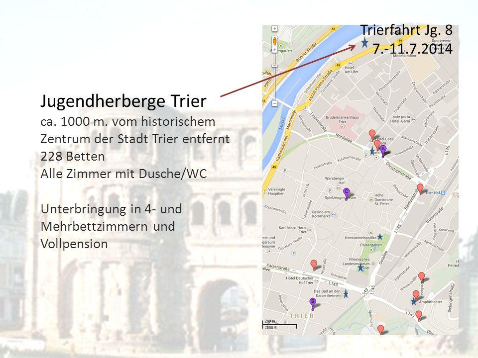 Trierfahrt Jg. 8 7.-11.7.2014