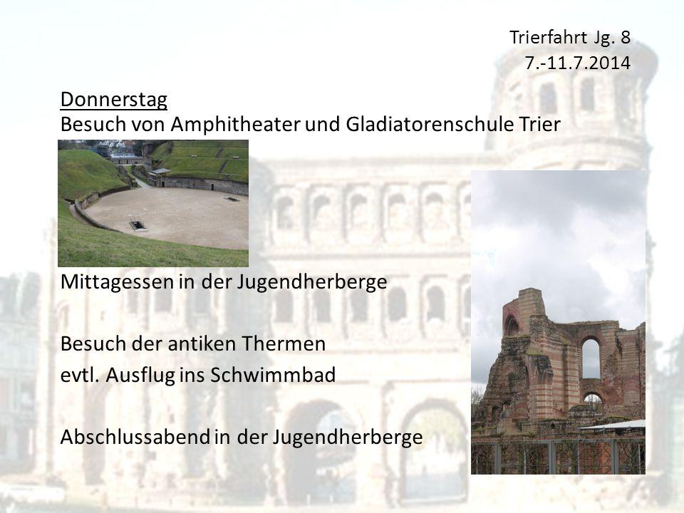 Besuch von Amphitheater und Gladiatorenschule Trier
