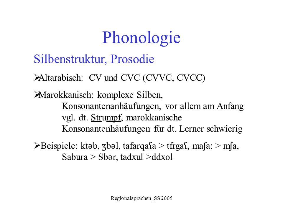 Phonologie Silbenstruktur, Prosodie