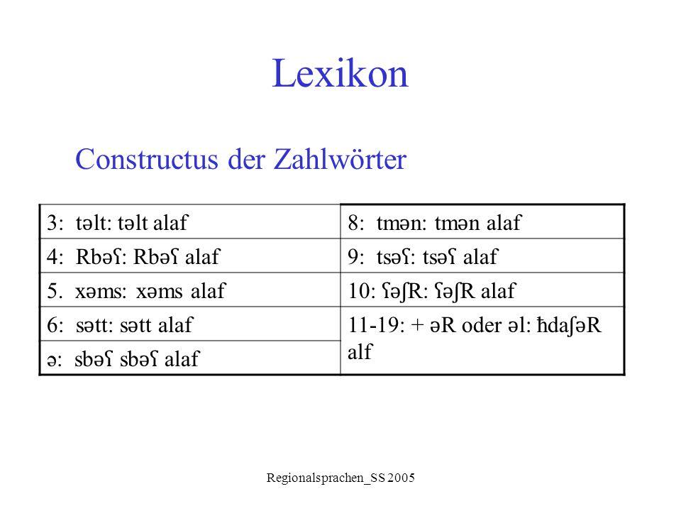 Lexikon Constructus der Zahlwörter 3: tǝlt: tǝlt alaf