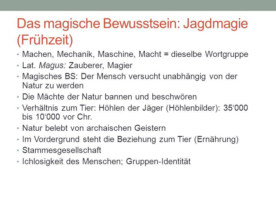 Das magische Bewusstsein: Jagdmagie (Frühzeit)
