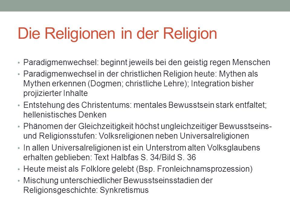 Die Religionen in der Religion