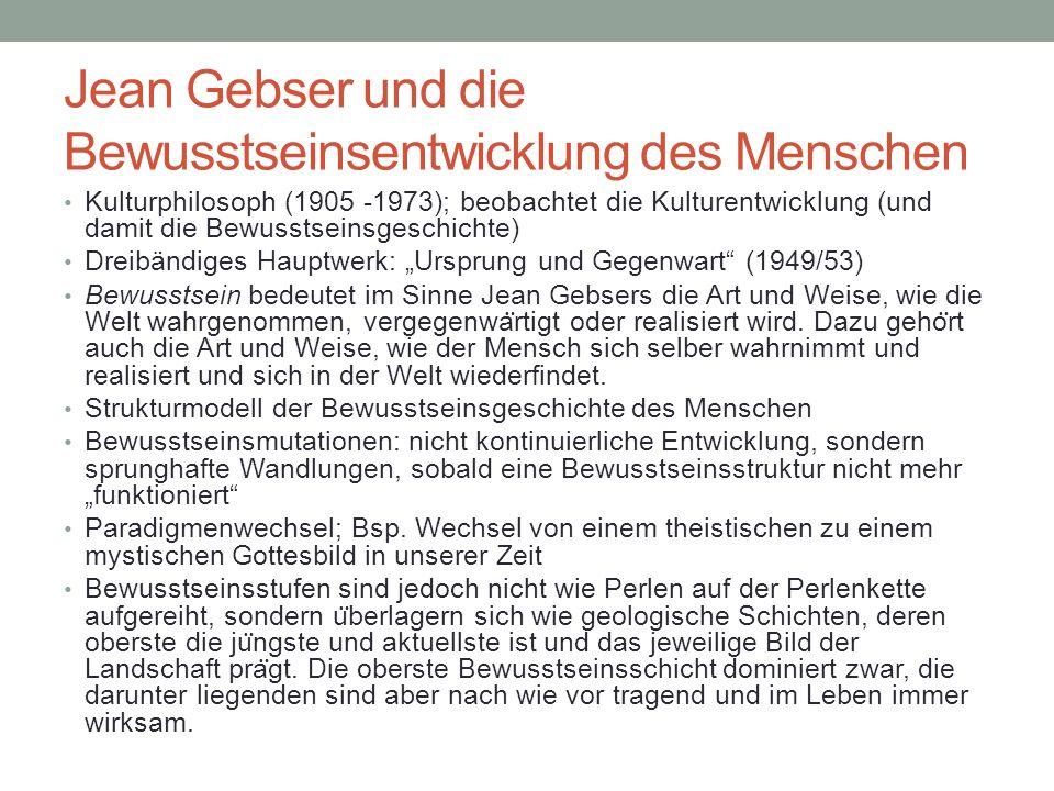 Jean Gebser und die Bewusstseinsentwicklung des Menschen