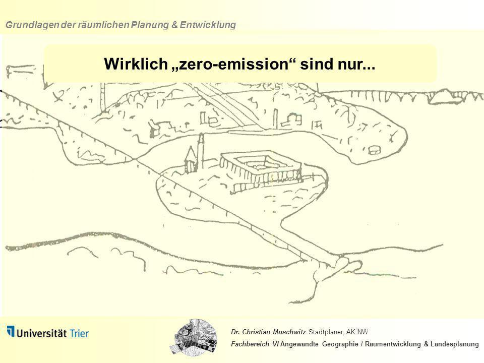 """Wirklich """"zero-emission sind nur..."""