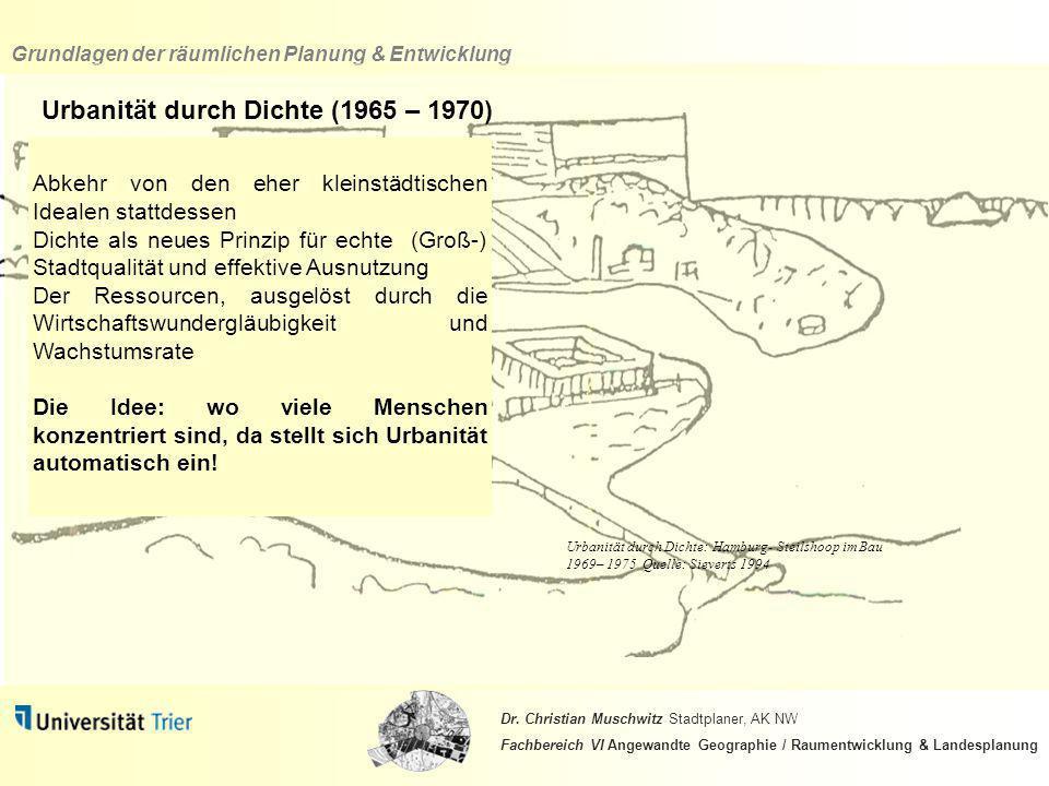 Urbanität durch Dichte (1965 – 1970)