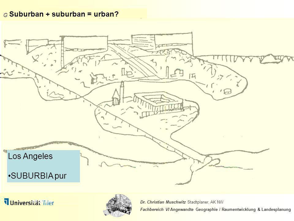 Suburban + suburban = urban