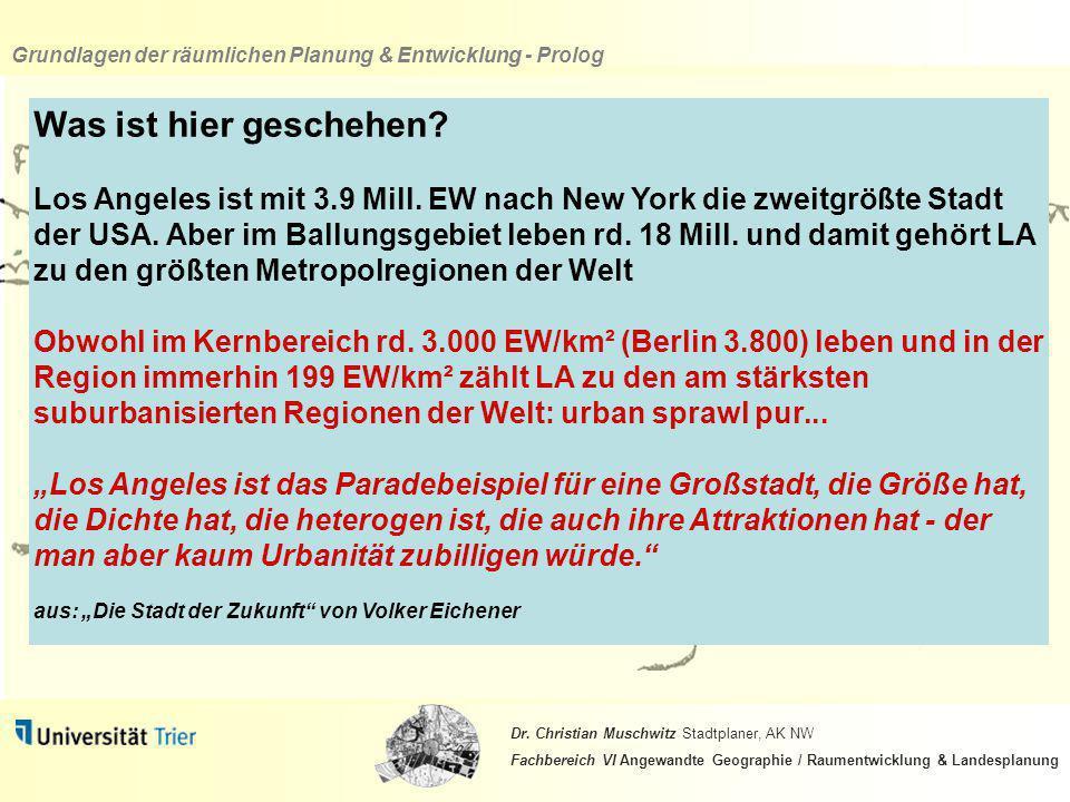 Grundlagen der räumlichen Planung & Entwicklung - Prolog