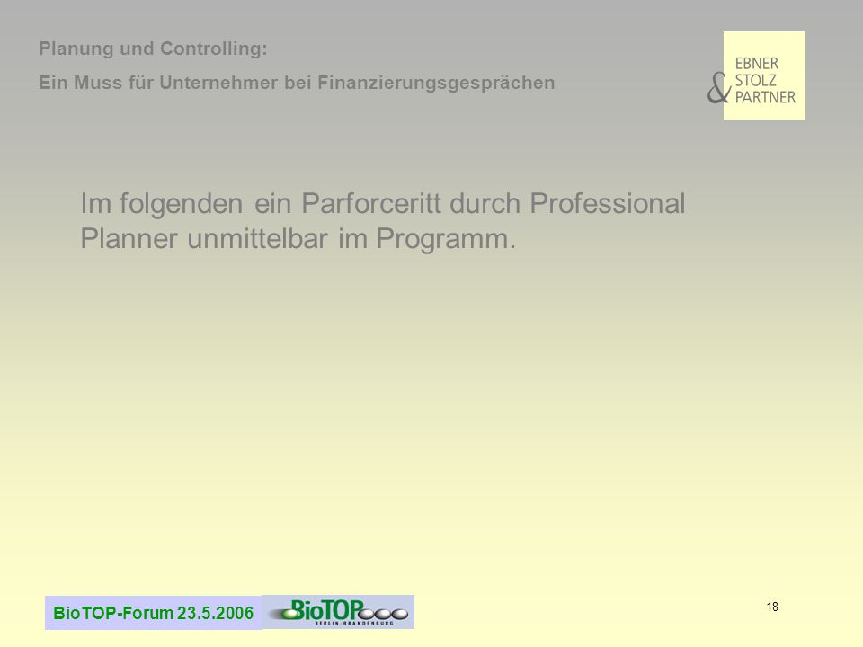 Planung und Controlling: