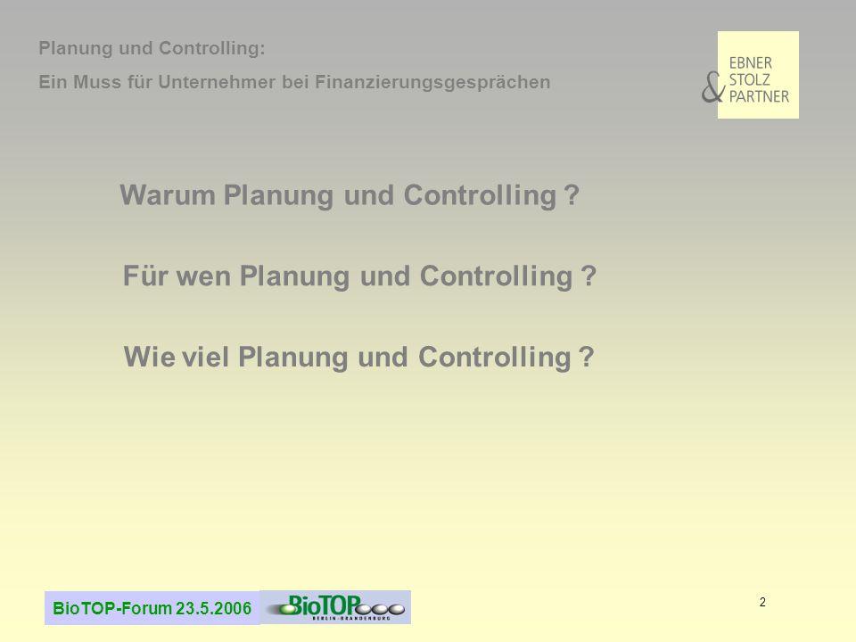 Warum Planung und Controlling