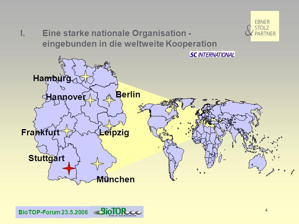 I. Eine starke nationale Organisation -