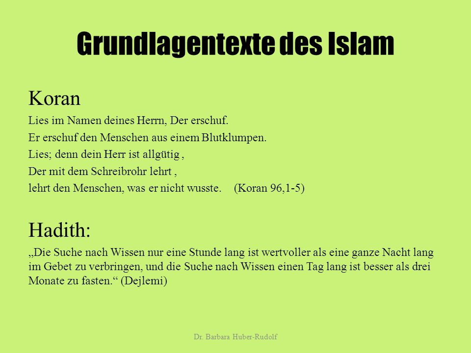 Grundlagentexte des Islam