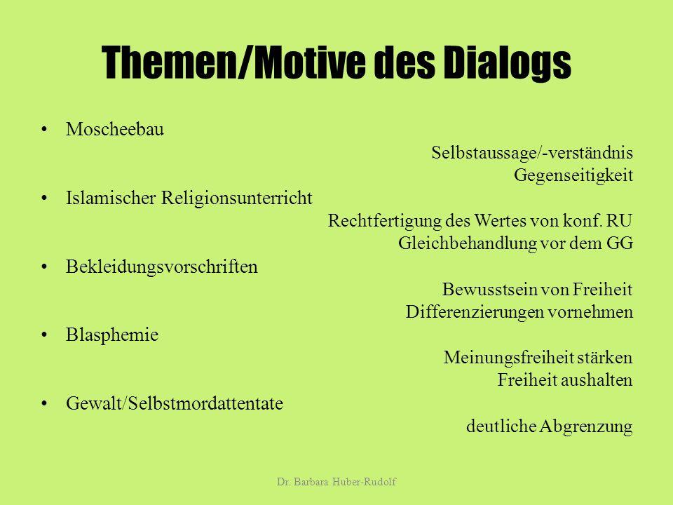 Themen/Motive des Dialogs