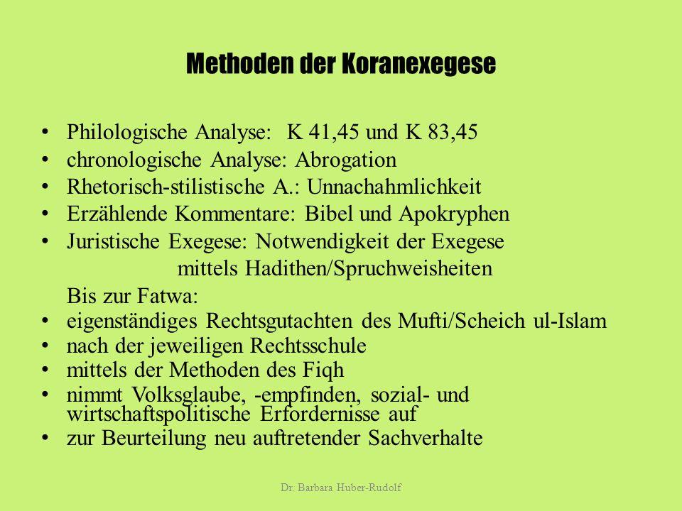 Methoden der Koranexegese