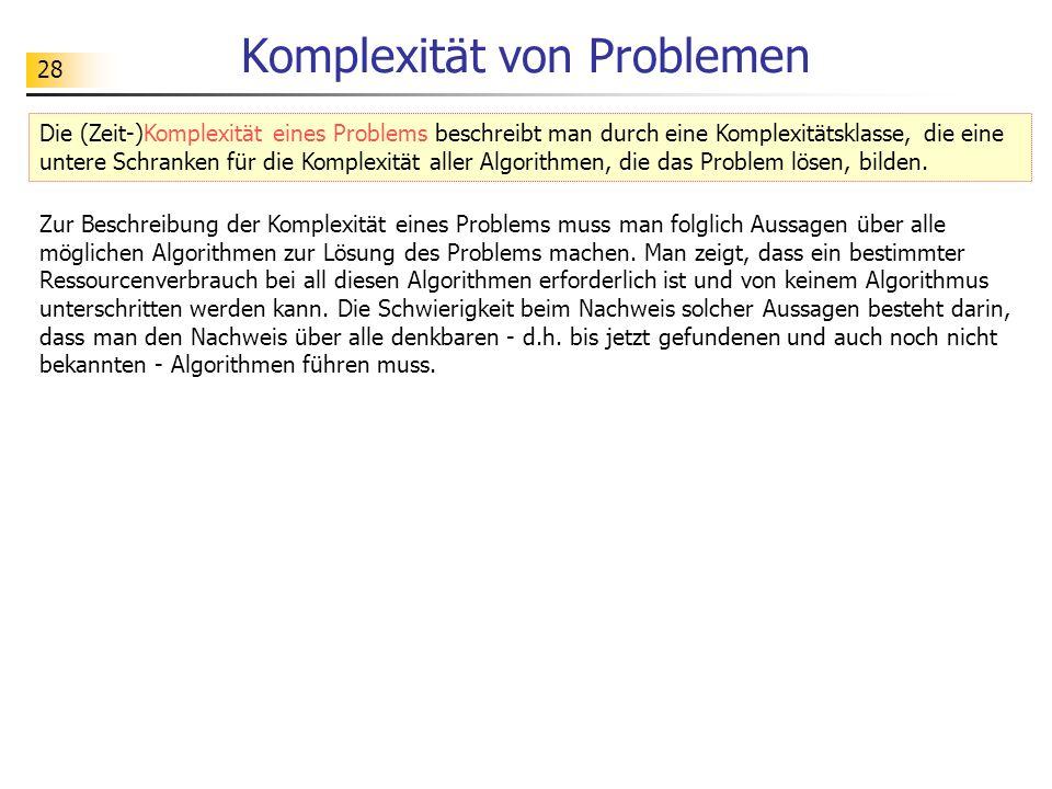 Komplexität von Problemen