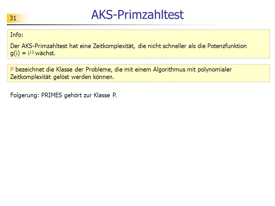 AKS-Primzahltest Info: