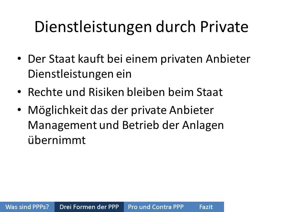 Dienstleistungen durch Private