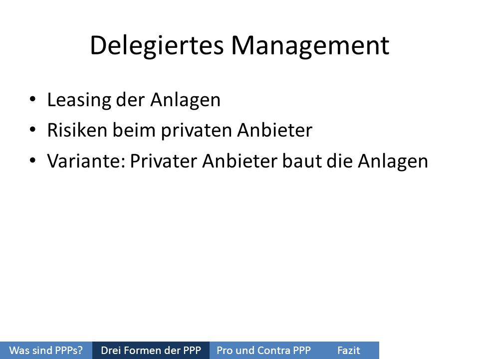 Delegiertes Management