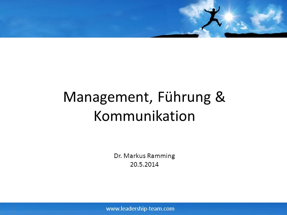 Management, Führung & Kommunikation