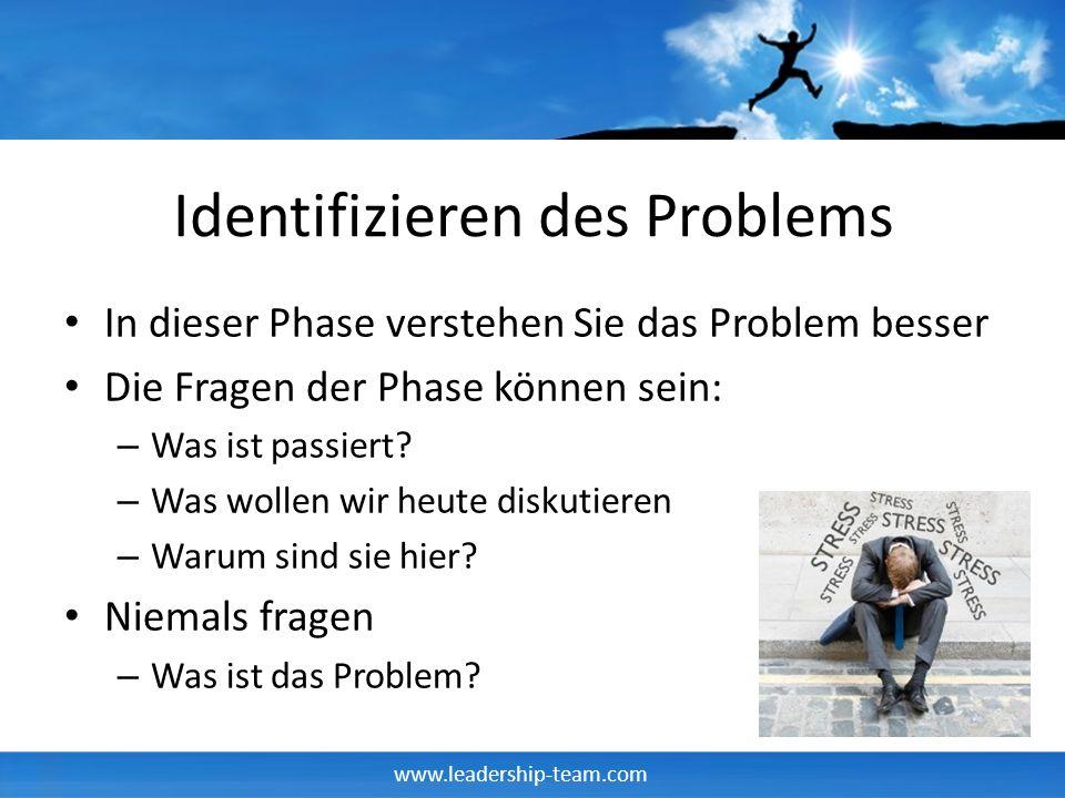 Identifizieren des Problems